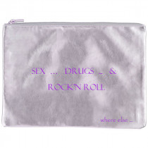 pochette where else sex drug rocknroll argent