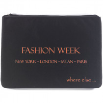 where else pochette fashion week noir orange