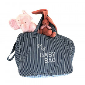 BABY BAG - Denim rayé personnalisable