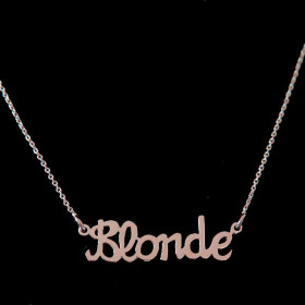 Collier Blonde Or Rose