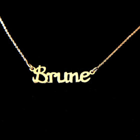 Collier Brune Or