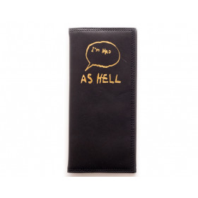 Porte-feuille Mad as hell noir