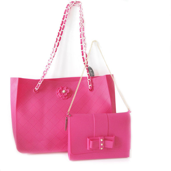 newest collection affordable price wide varieties sac à main silicone fuchsia Baci